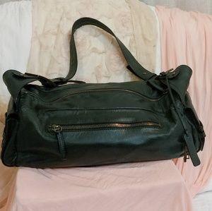 Gianni Bini Bags - Black Leather Satchel by Gianni Bini